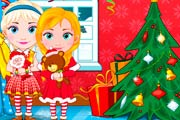 Anna And Elsa Babies Christmas Shopping Game