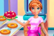 Anna Cooking Donuts