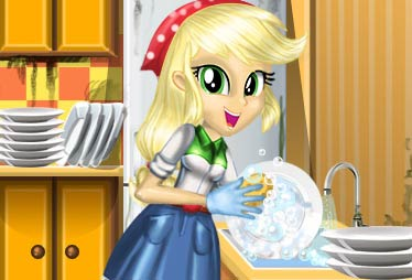 game Applejack Great Cleaning