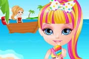 game Baby Barbie Beach Slacking