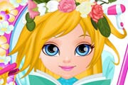 game Baby Barbie Flower Braids