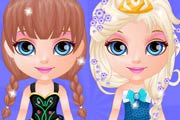 game Baby Barbie Frozen Party