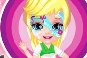 Baby Barbie Little Pony Face Painting Game