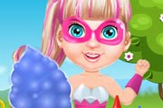 game Baby Barbie Superhero Cooking Cotton Candy