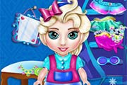 game Baby Elsa Wardrobe Cleaning