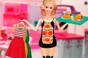 game Barbie Waitress Fashion