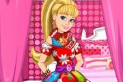 game Barbie`s Christmas Patchwork Dress