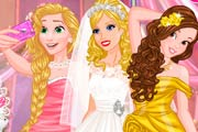 Barbies Wedding Selfie with Princesses