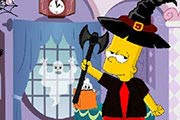 Bart Simpson Halloween Dress Up Game