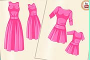 game Design Barbie And Baby Matching Dress