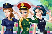 Disney Girls At Police Academy Game