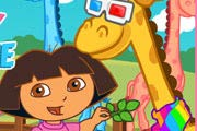 game Dora Care Baby Giraffe