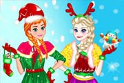 game Elsa And Anna Christmas Day