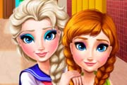 game Elsa And Anna Frozen: College Makeover