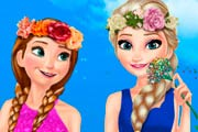 game Elsa And Anna Spring Dress Up
