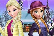 Elsa And Anna Winter Dress Up Game