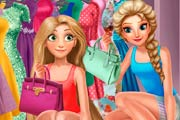 Elsa And Rapunzel Dressing Room Game