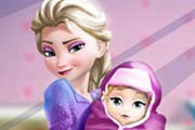 game Elsa And The New Born Baby