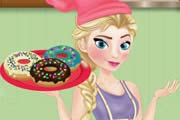 game Elsa Cooking Donuts