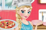 Elsa Cooking Pizza Game
