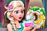 game Elsa Dish Washing Realife