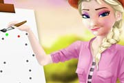 game Elsa Drawing Teacher