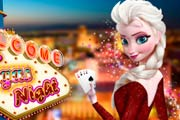 game Elsa Frozen: Vegas Night