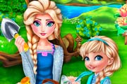 Elsa Mommy Gardening Game
