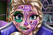 Elsa Scary Halloween Makeup Game