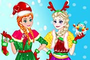 game Elsa With Anna Christmas Day