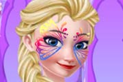 game Frozen Elsa Face Art