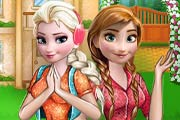 Frozen Sisters Barbecue Party