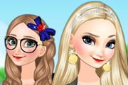 Frozen Sisters College Life Game