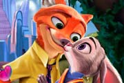 Judy Hopps and Nick Wilde Kissing Game