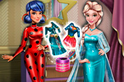 game Ladybug And Elsa Dress Up