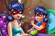 game Ladybug Mommy Toddler Feed