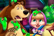 game Masha and Bear Kitchen Mischief