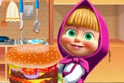 game Masha Cooking Big Burger