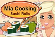 game Mia Cooking Sushi Rolls