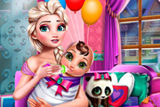 game Mommy Elsa Frozen: Newborn Care