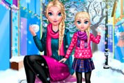 game Mommy Elsa Winter Day