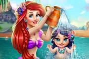 Play Ariel Baby Wash Game