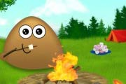 game Pou Camp Fire