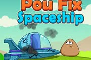 game Pou Fix Spaceship