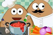 game Pou Kitchen Slacking