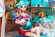 game Pregnant Eliza Pool Fun