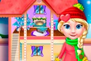 Princess Elsa Doll Christmas Decoration Game