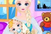 game Queen Elsa Give Birth