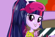 game Rainbow Rocks Twilight Sparkle Pajama Party