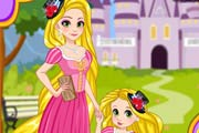 Rapunzel and Daughter Matching Dress Game